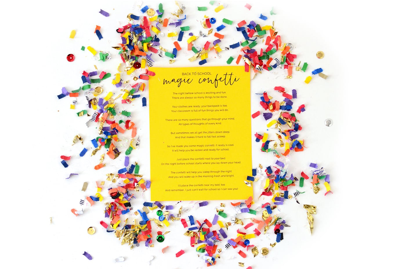 Back to School Magic Confetti
