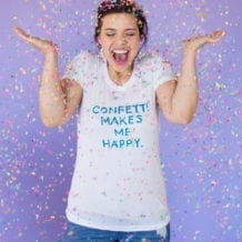 Confetti Makes Me Happy t-shirt from The Confetti Bar
