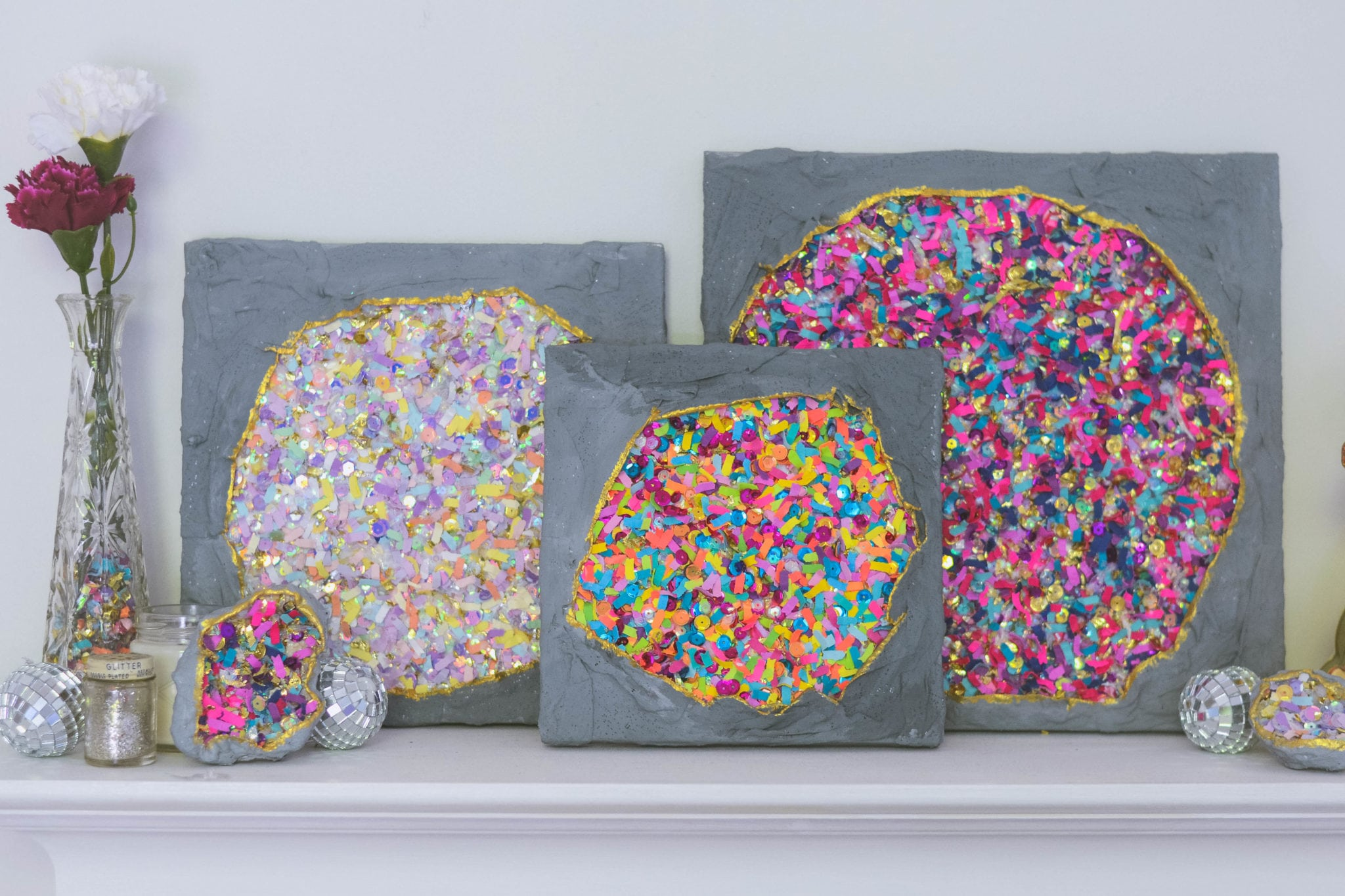 DIY Confetti Geodes (Two Ways)