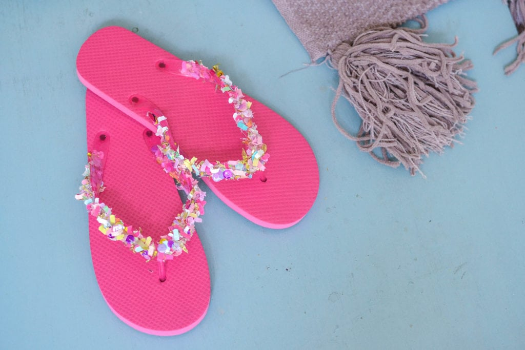 DIY Confetti Sandals