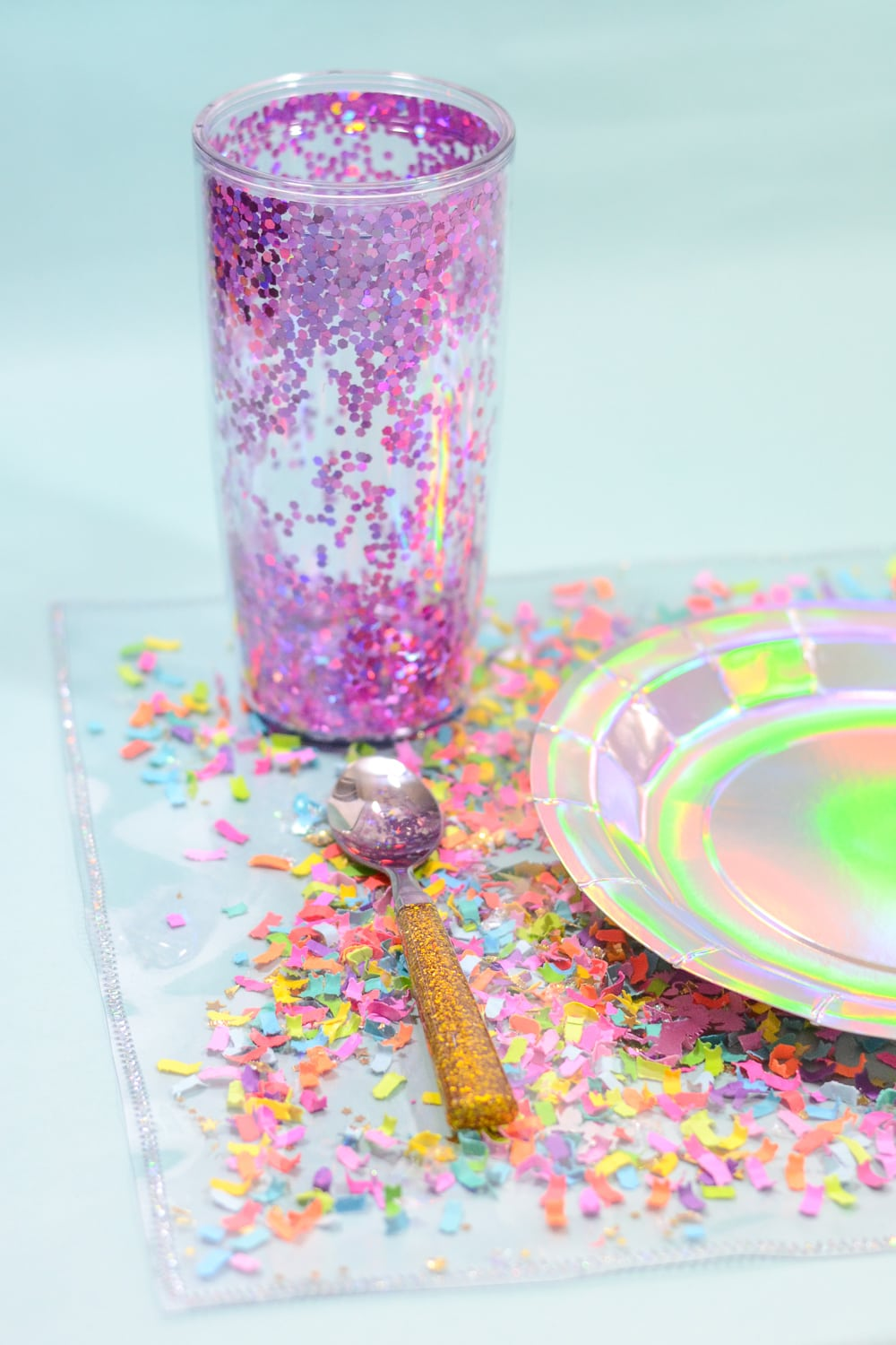 DIY Confetti Placemats