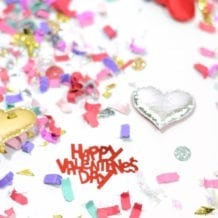Happy Valentine's Day confetti mix from The Confetti Bar
