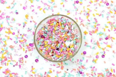 X's and O's confetti mix by The Confetti Bar