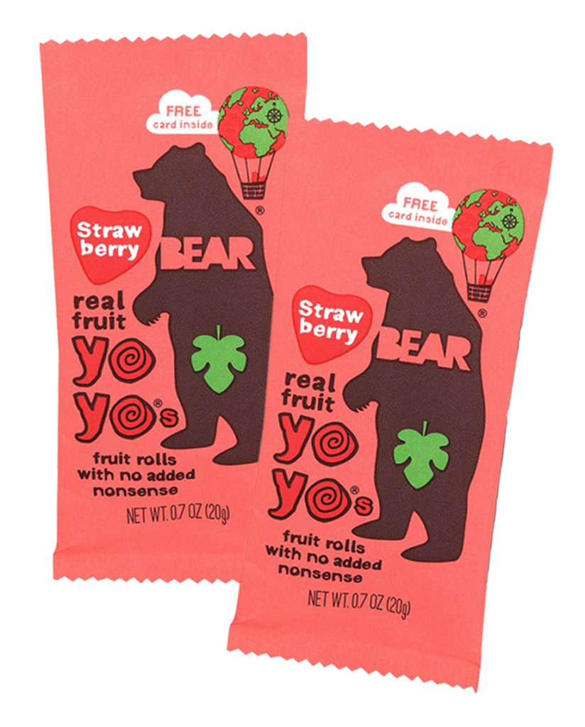 Bear Strawberry Fruit Yoyos