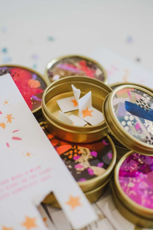 Wish Upon a Star with hand-painted wish tins by The Confetti Bar