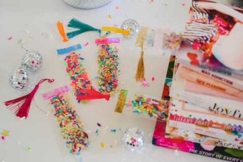 DIY Confetti Bookmark Kit