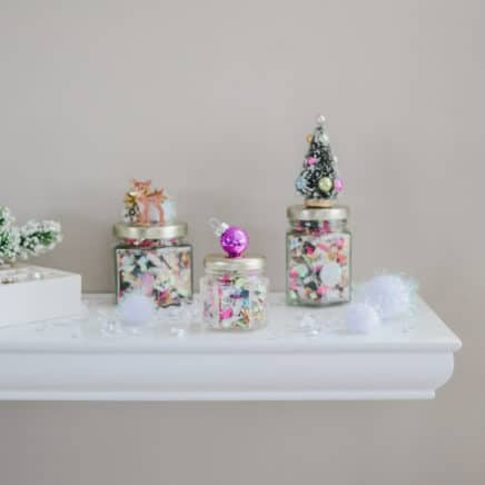 Decorative Embellished Confetti Jars - Holiday Set v5