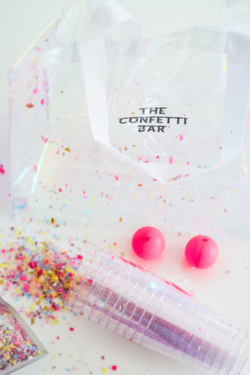Confetti Pong Party Game